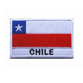 100 piece a lot 3D embroidery armband Chile flag patch Military Tactical Clothing Backpack Caps Brazil flag patch badge