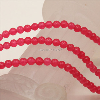 4-12mm Accessory Rose Stones Loose Semi Finished Stones Balls Beads DIY Round Jewelry Making 15inch Women Girls Christmas Gifts