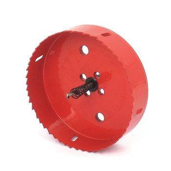NFLC-6mm Drill Bit 130mm Cutting Diameter Hole Saw Red for Drilling Wood