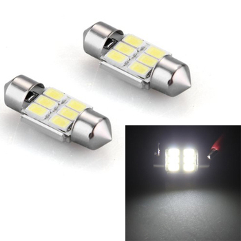 TOYL 2 * Bombilla Lmfor Festoon 6 LED 5630 SMD Luz Blanco DC 12 V Ultra Brillante