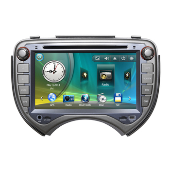 "7 ""araba Radyo DVD GPS Navigasyon Merkez Multimedya için Nissan March 2010 2011 SD USB RDS Analog TV Rehberi Bluetooth Handsfree"