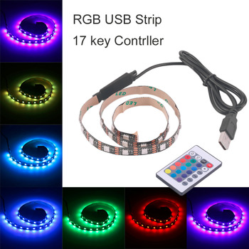 ICOCO RGB 5050 SMD LED Strip Light Flexible LED Tape Lamps Bright USB 5V Christmas Non-Waterproof Decoration Lamp