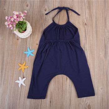 Toddler Baby Girls Romper Children Clothing Summer Costume Girl Solid Fashion Strap Rompers Jumpsuit Clothes Outfits 2-6T